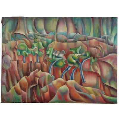 Zoe Suzi Actypi Abstract Landscape Oil Painting