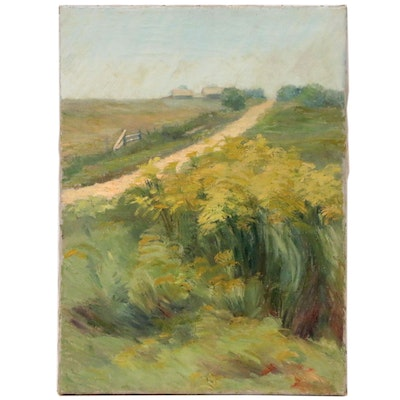 Landscape Oil Painting of Pastoral Scene