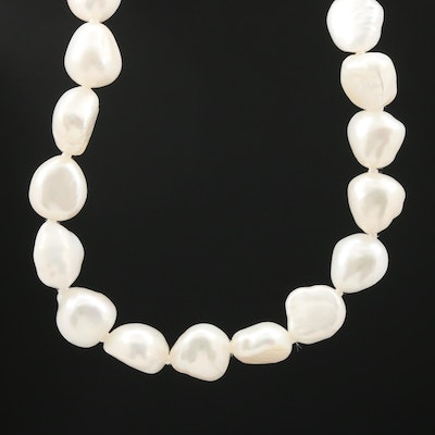 Endless Strand of Knotted Pearls Necklace