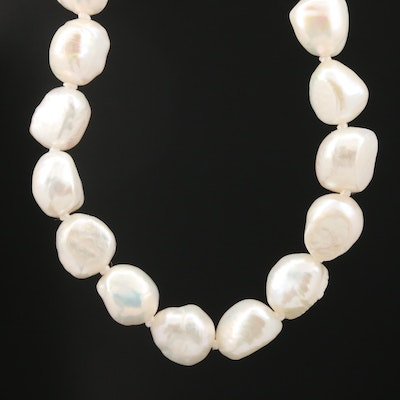 Endless Stand of Knotted Pearls Necklace