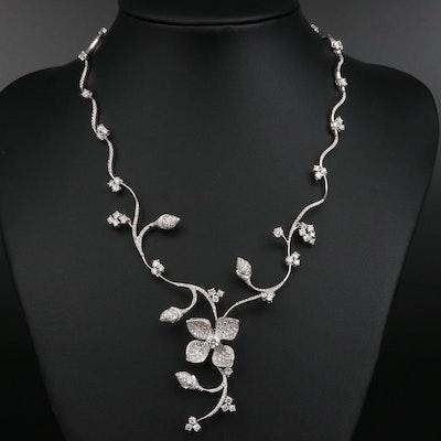 Stefan Hafner 18K 7.00 CTW Diamond Floral Necklace