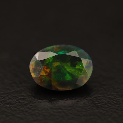 Loose 1.03 CT Oval Faceted Opal