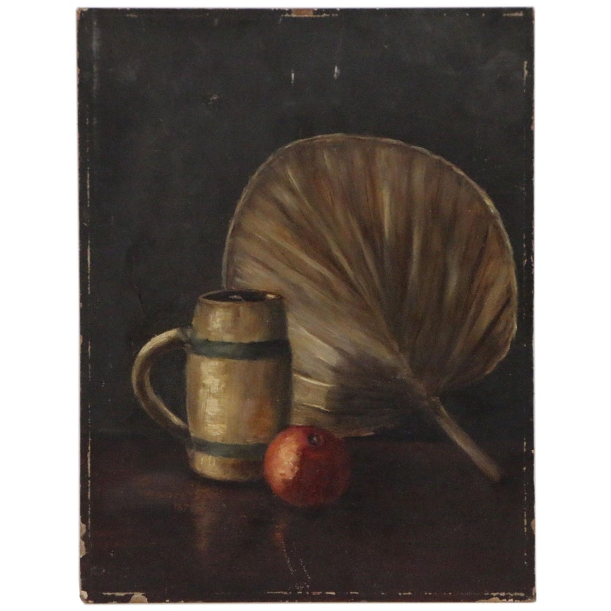 Still Life Oil Painting, Early 20th Century