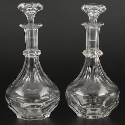 Pair of Cut Crystal Decanters, Early to Mid-20th Century