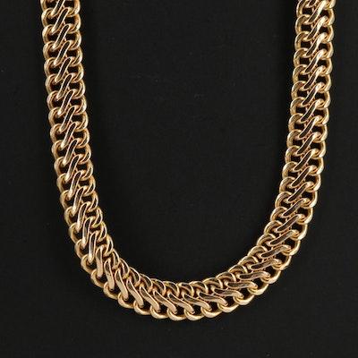 Milor 14K Double Curb Chain Necklace