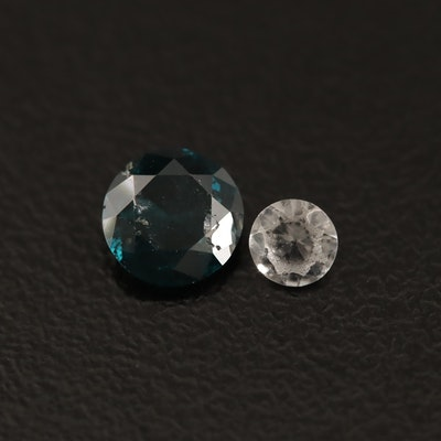 Loose 0.69 CT Diamond and Laboratory Grown Spinel
