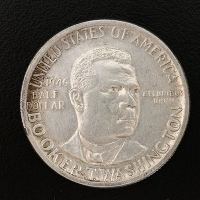 1946 Booker T. Washington Silver Half Dollar