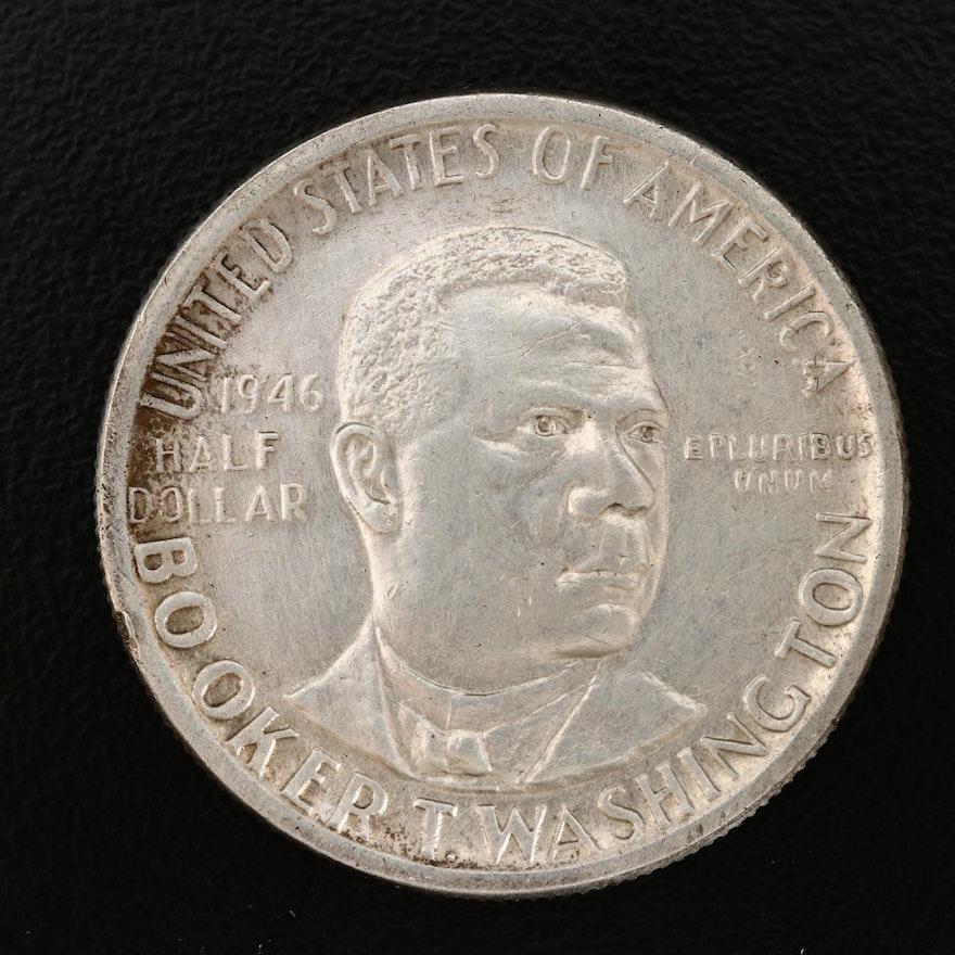 1946 Booker T. Washington Silver Half Dollar