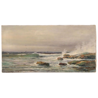 Frederick Matzow Seascape Oil Painting