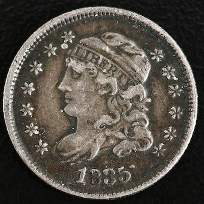 1835 Capped Liberty Silver Half Dime