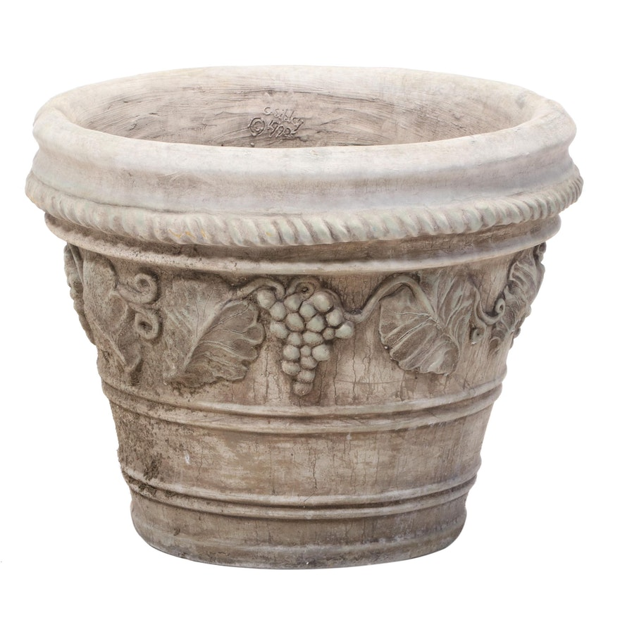 Christine Sibley Cast and Patinated Concrete Garden Planter