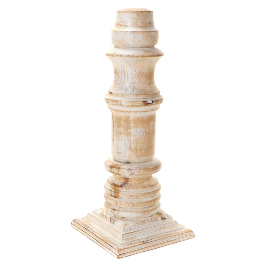 Turned Wood Newel Post Style Home Décor