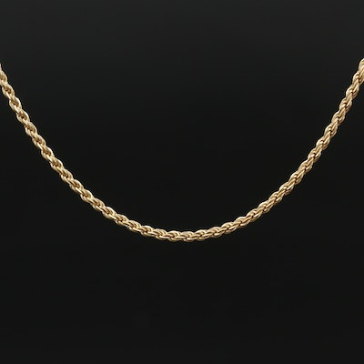 14K Rope Style Chain Necklace
