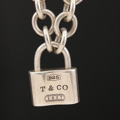 "Tiffany & Co. ""1837"" Sterling Silver Lock Pendant Necklace"