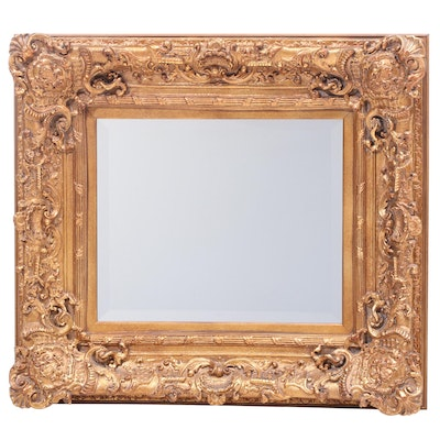 Baroque Style Giltwood and Composition Wall Mirror