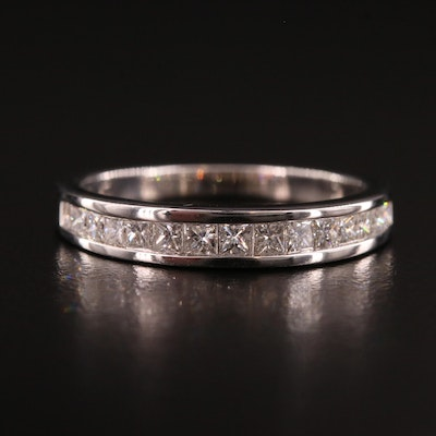 14K Gold Diamond Channel Ring