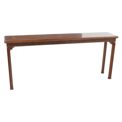 Chippendale Style Mahogany Console Table, Late 20th Century