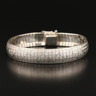 Milor Sterling Silver Textured Bracelet