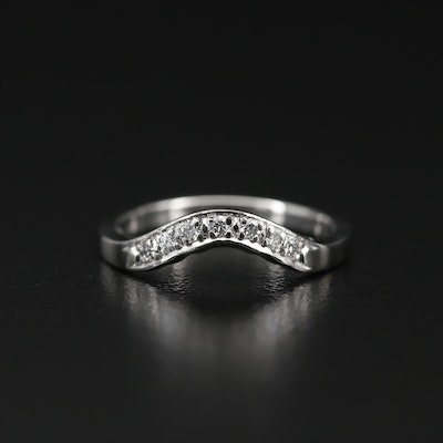 Platinum Diamond Contour Band
