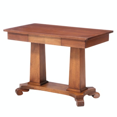Empire Style Walnut Writing Table, Early 20th Century