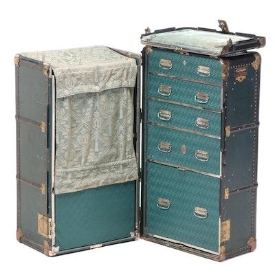 "Hartmann ""The Bullock Wardrobe"" Cushion-Top Steamer Trunk, Early 20th Century"