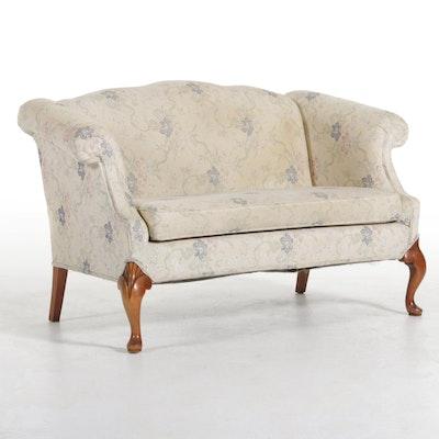 Kroehler Floral Chenille Jacquard Upholstered Loveseat, Late 20th Century