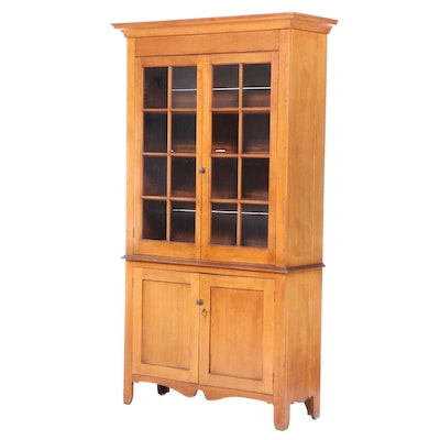 American Poplar Cupboard, Early 19th Century