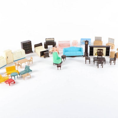Plasco, Marx, and Assorted Plastic Doll House Furniture