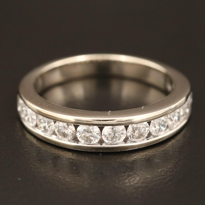 14K Diamond Channel Ring