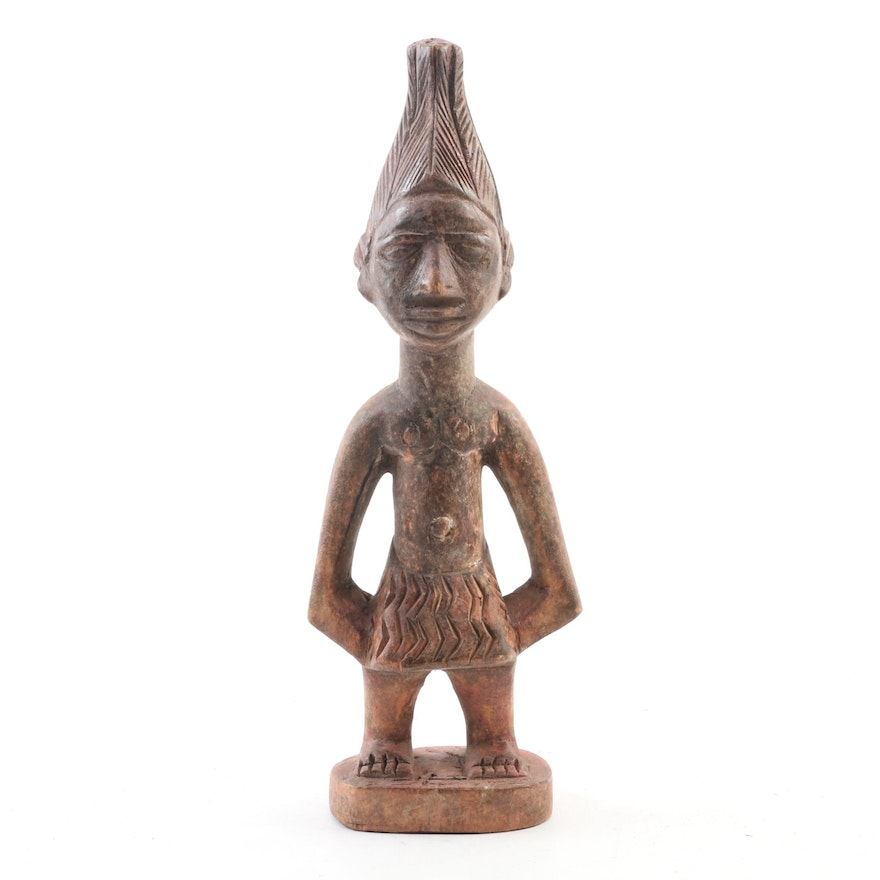 West African Carved Wooden Figure, 20th Century