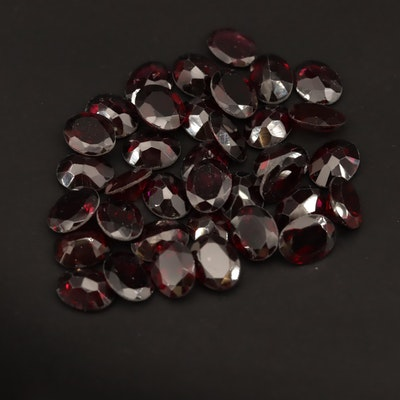 Loose 77.06 CTW Oval Faceted Garnets
