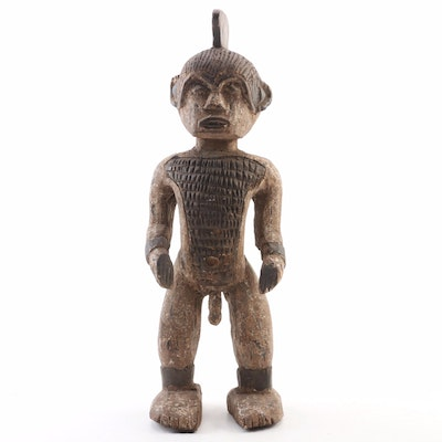Punu Style Wood Carved Figure, 20th Century