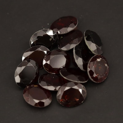 Loose 53.09 CTW Oval Faceted Garnets