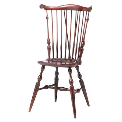 Wallace Nutting Comb and Brace-Back Windsor Side Chair, First Half 20th Century