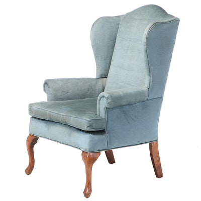 Fairfield Queen Anne Style Upholstered Wingback Armchair