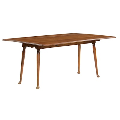 Queen Anne Style Maple Drop Leaf Table, Mid to Late 20th Century