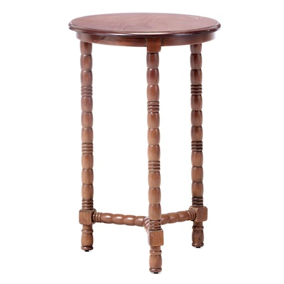William and Mary Style Walnut-Stained and Bobbin-Turned Side Table