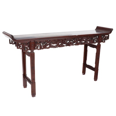 Sarasota Trading Company Carved Hardwood Alter Table