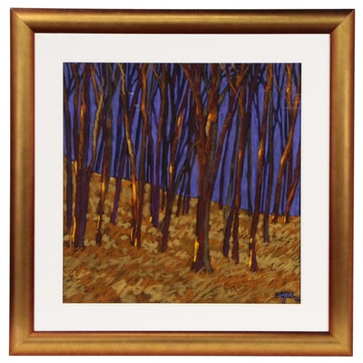 "R. John Ichter Pastel Drawing ""And When October Goes"", 2011"