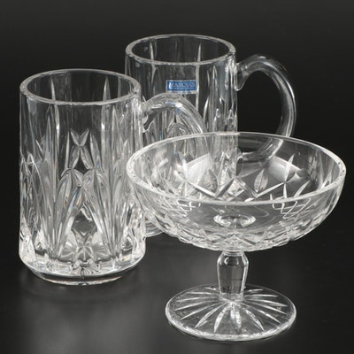 "Waterford ""Lismore"" Crystal Compote and Marquis by Waterford Tankards"