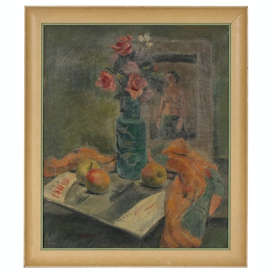 Still Life Oil Painting, Early-Mid 20th Century