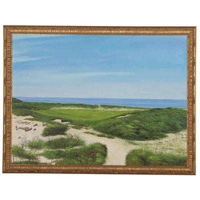 Coastal Landscape Oil Painting, 21st Century