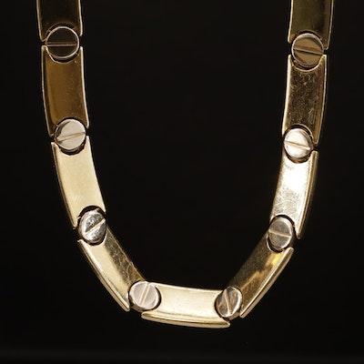 14K Gold Link Necklace