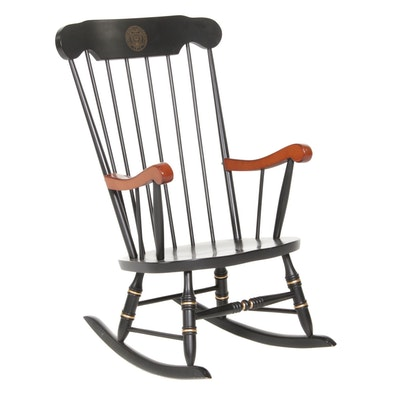 Boone Industries Ohio State University Cherry and Ebonized Wood Rocking Chair