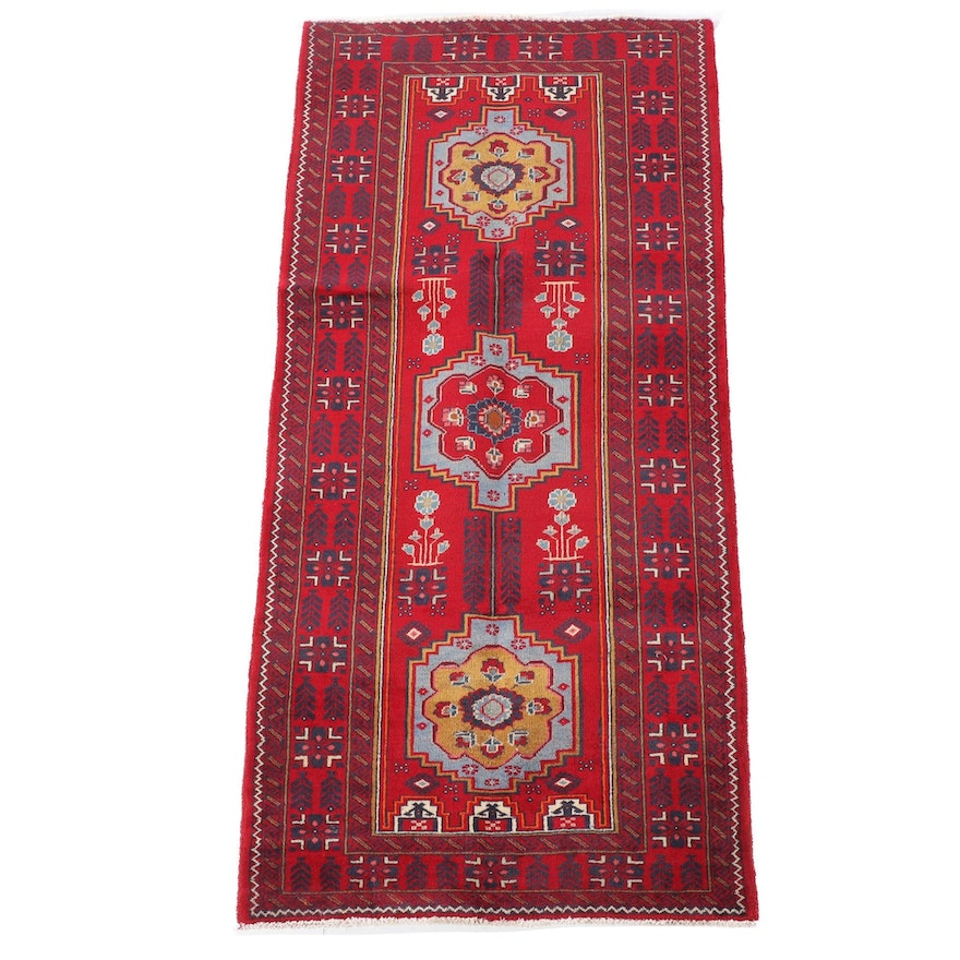 3'3 x 7'5 Hand-Knotted Northwest Persia Wool Rug