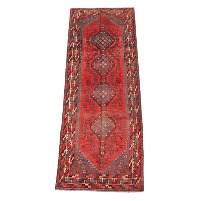 3'3 x 9'7 Hand-Knotted Persian Yalameh Wool Long Rug