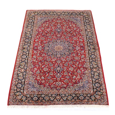 8'4 x 12'6 Hand-Knotted Persian Isfahan Wool Rug