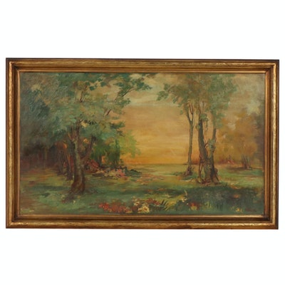 Continental Style Landscape Oil Painting