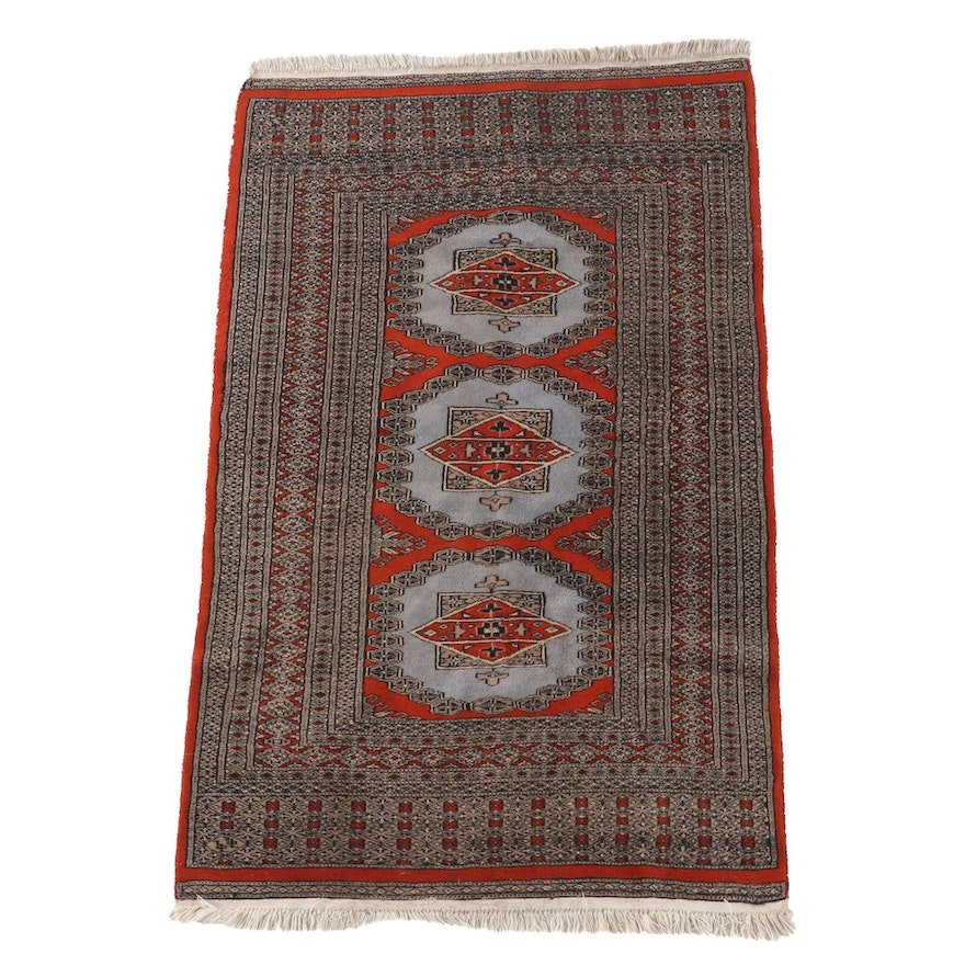 3'1 x 5'4 Hand-Knotted Persian Chenar Wool Rug