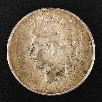 1922-S Peace Silver Dollar